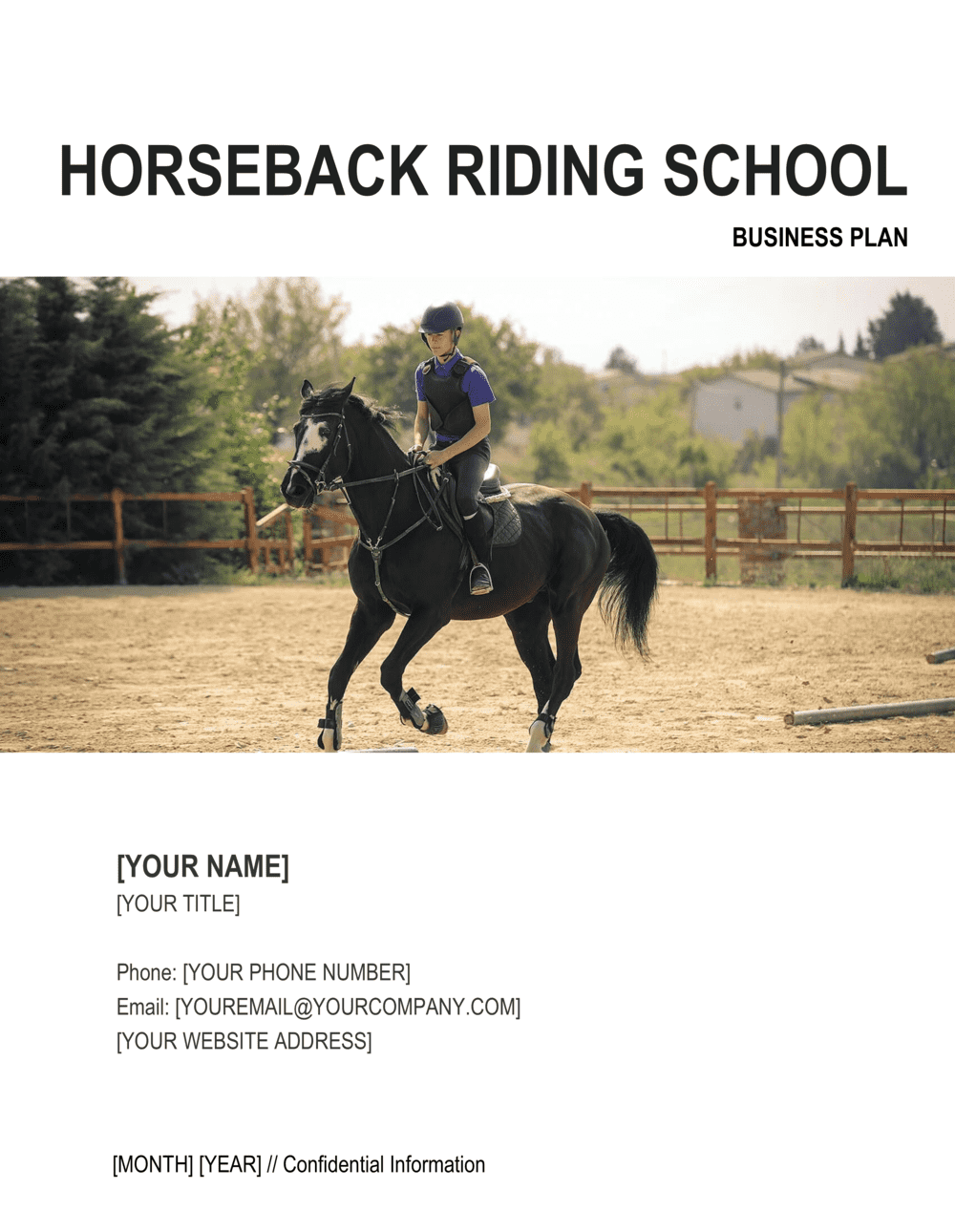 Business-in-a-Box's Horseback Riding School Business Plan Template