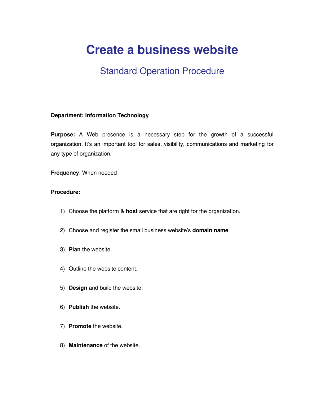 Business-in-a-Box's How to Create a Business Website Template