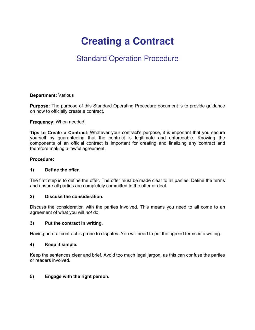 Business-in-a-Box's How To Create A Contract Template