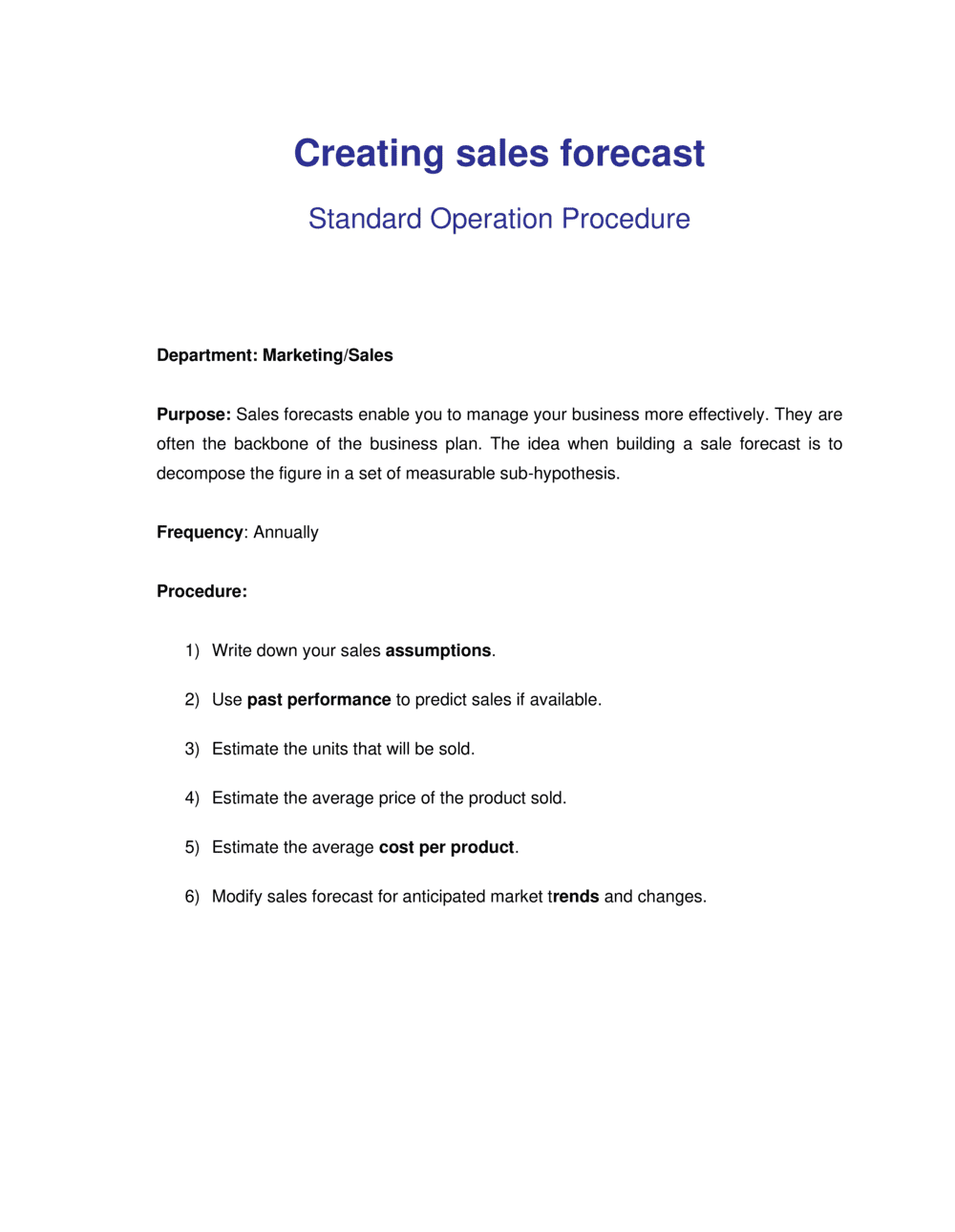 Business-in-a-Box's How to Create a Sales Forecast Template