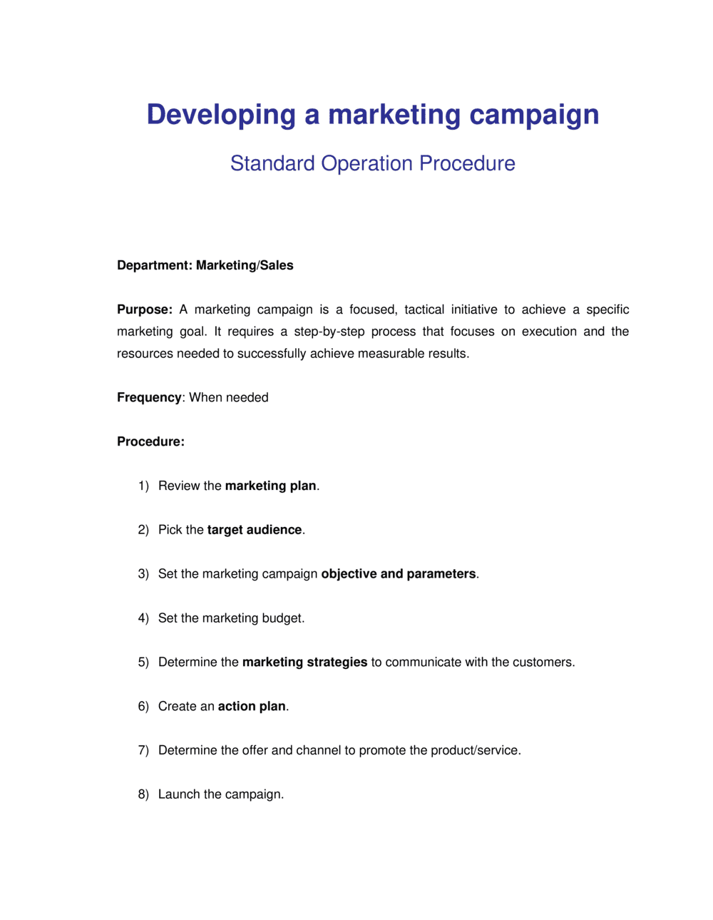 Business-in-a-Box's How to Develop a Marketing Campaign