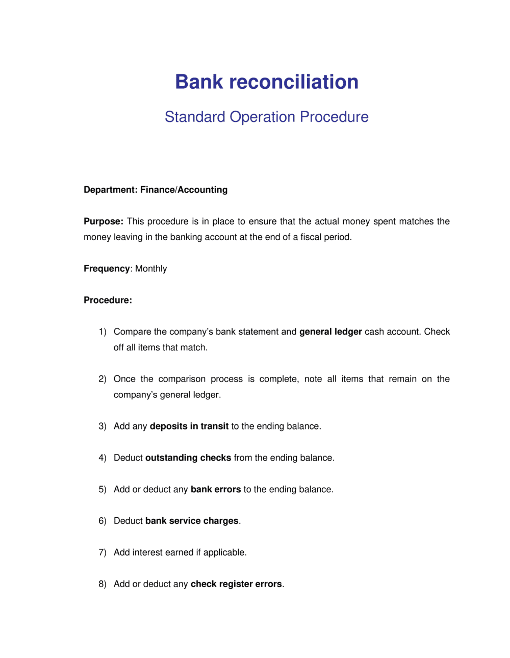 Business-in-a-Box's How to do Bank Reconciliation Template