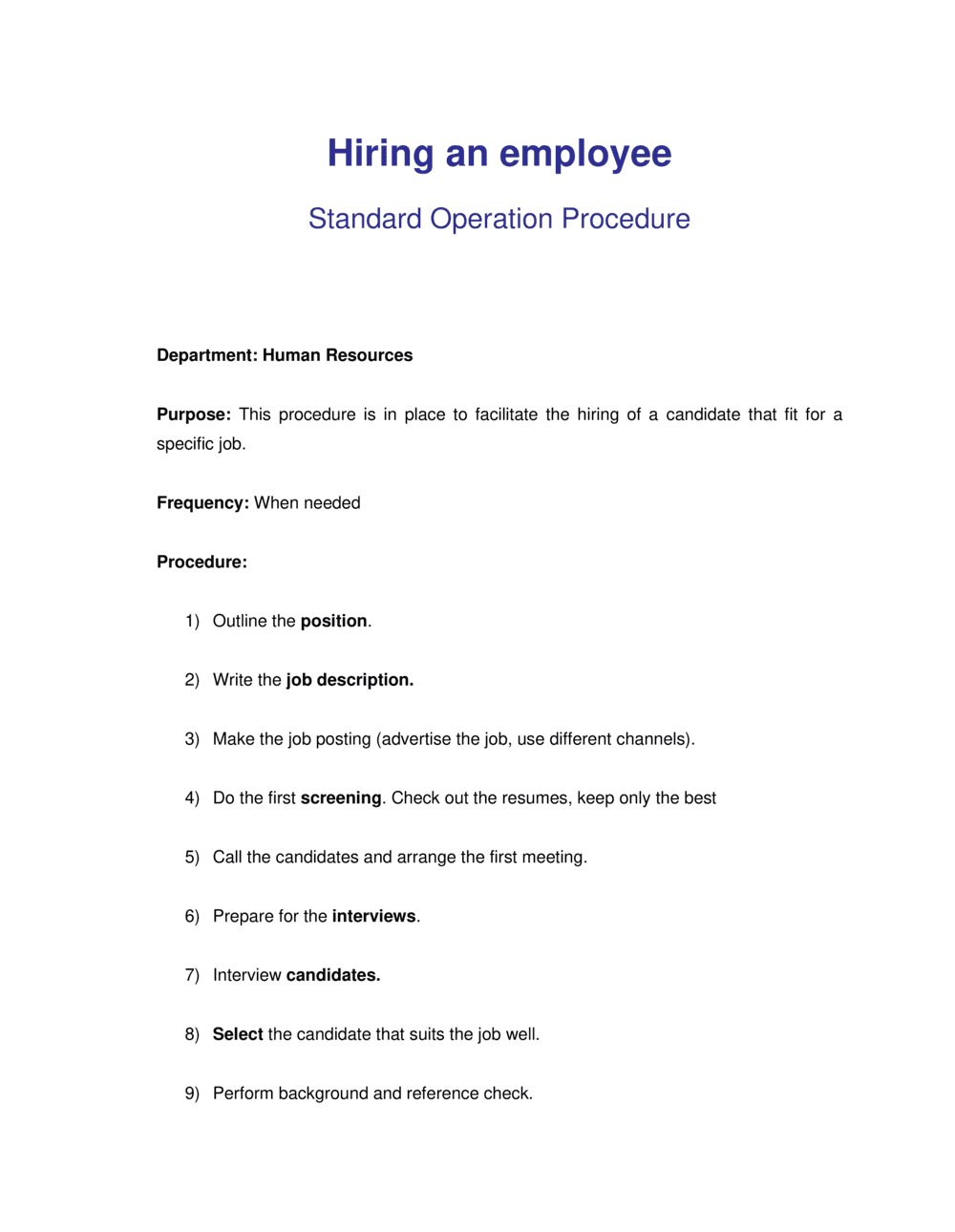 Business-in-a-Box's How to Hire an Employee