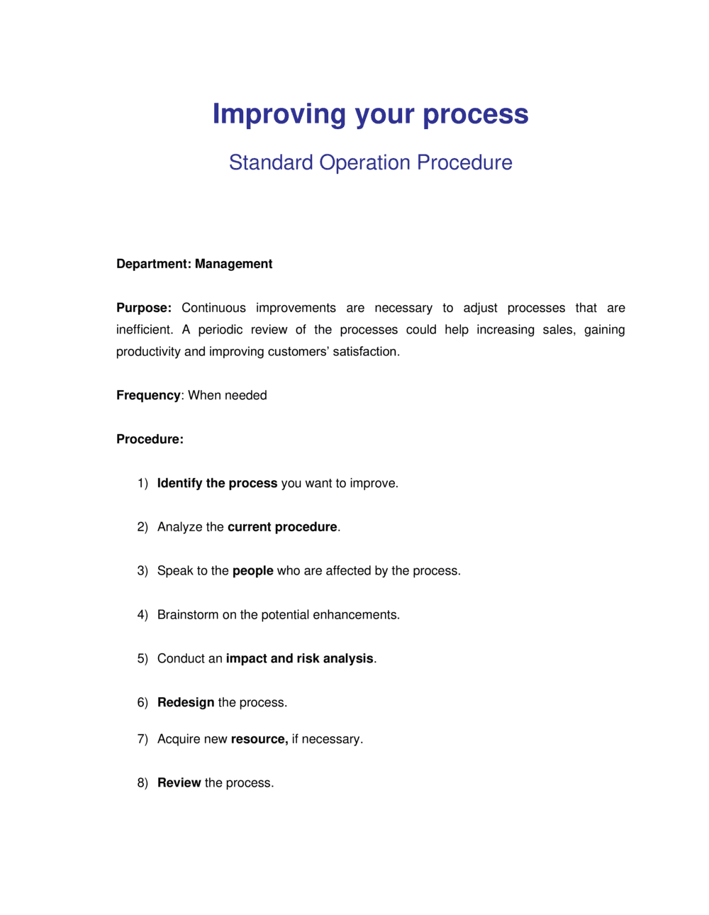Business-in-a-Box's How to Improve any Business Process Template