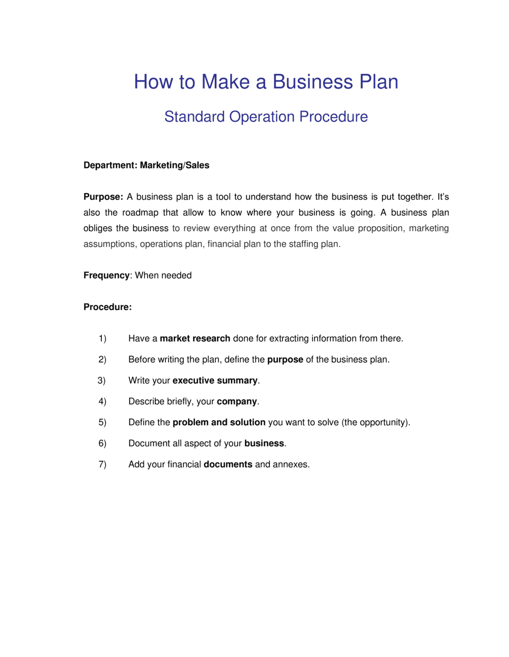 Business-in-a-Box's How to Make a Business Plan Template