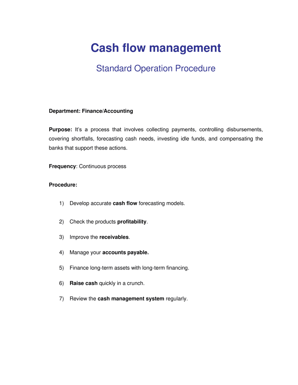 Business-in-a-Box's How to Manage Cash Flow