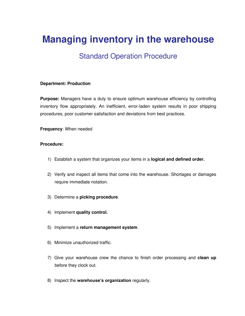 Business-in-a-Box's How to Manage Inventory in the Warehouse Template