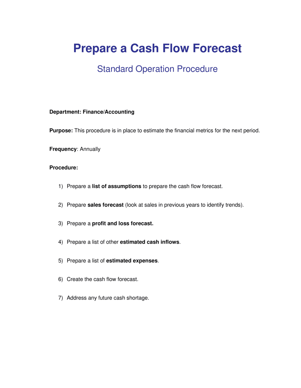Business-in-a-Box's How to Prepare a Cash Flow Forecast