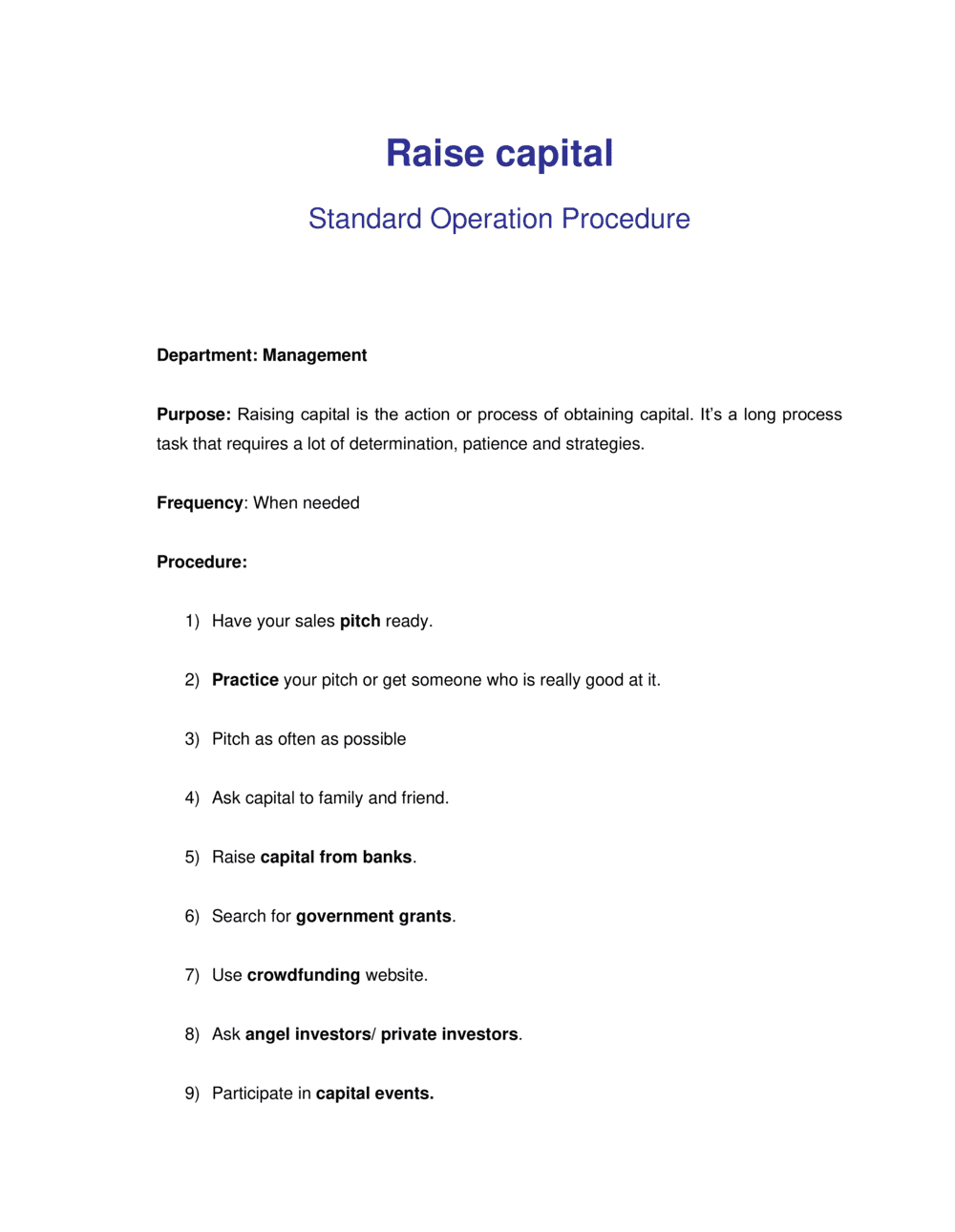 Business-in-a-Box's How to Raise Capital