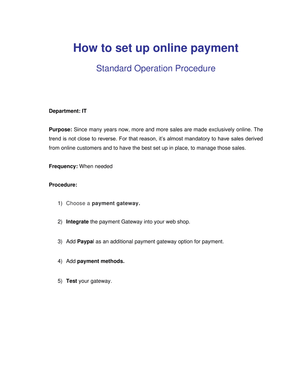 Business-in-a-Box's How to Setup Online Payment