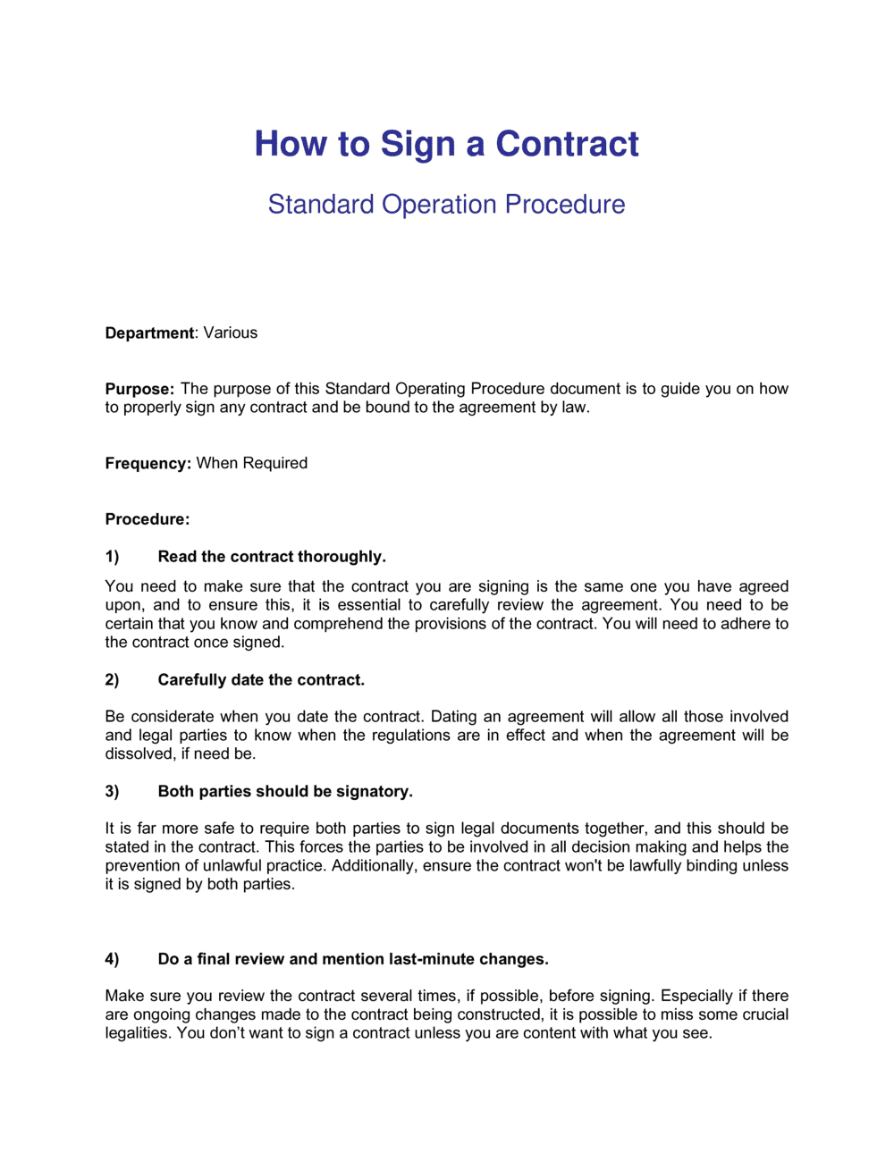 Business-in-a-Box's How To Sign A Contract Template