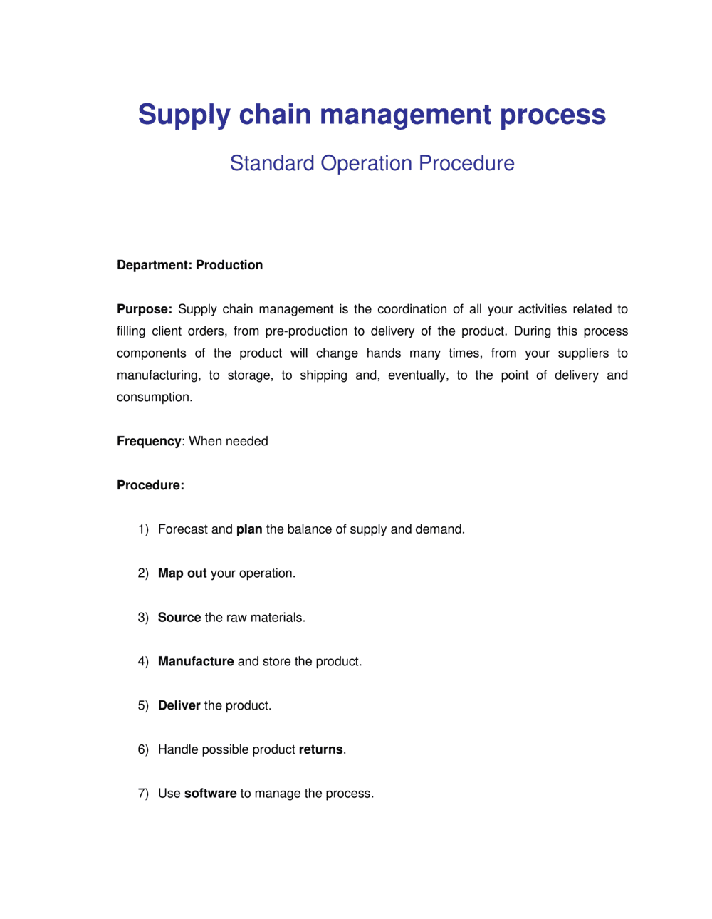 Business-in-a-Box's How to Steps for Supply Chain Management Template