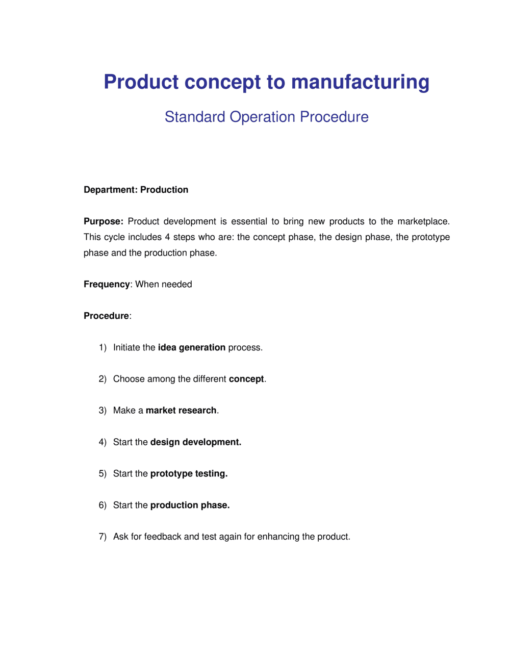 Business-in-a-Box's How to Steps from Product Concept to Manufacturing Template