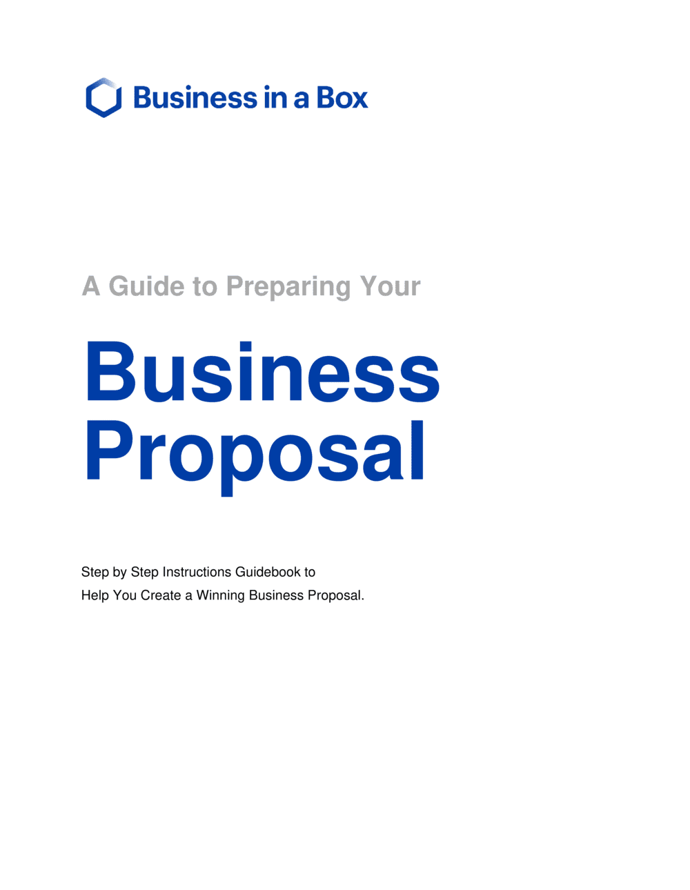 Business-in-a-Box's How To Write A Business Proposal Template
