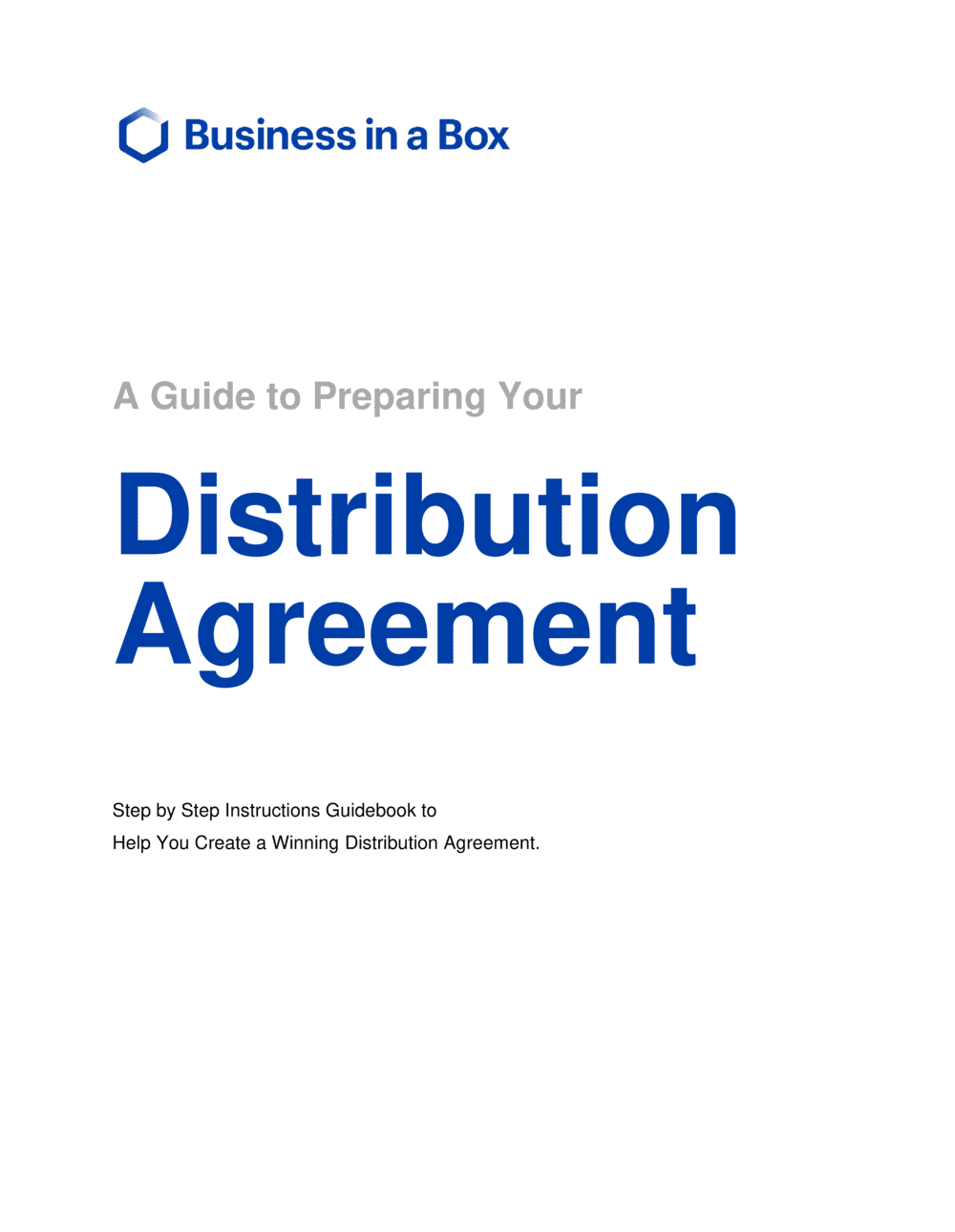 Business-in-a-Box's How To Write A Distribution Agreement Template