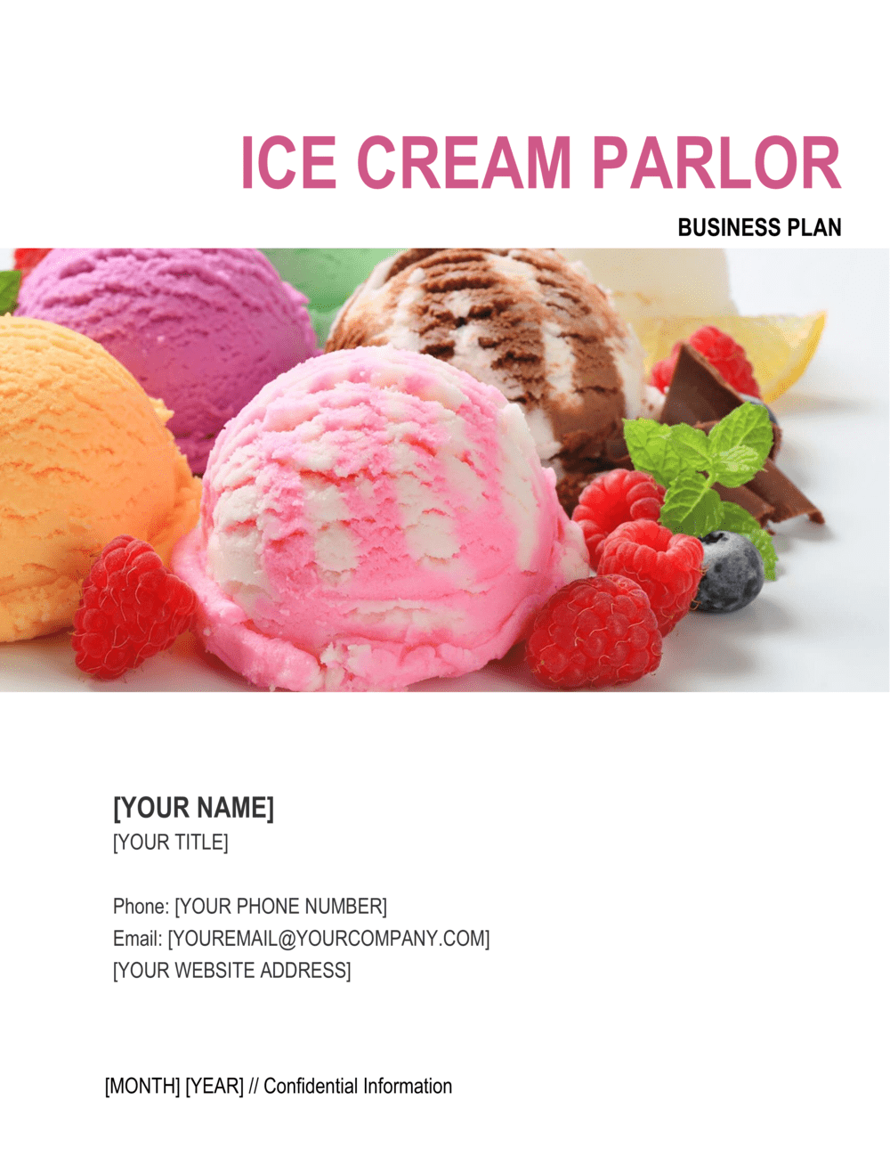 Business-in-a-Box's Ice Cream Parlor Business Plan Template