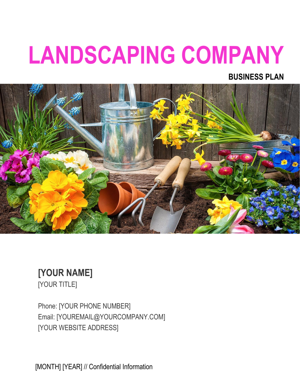 Business-in-a-Box's Landscaping Company Business Plan Template