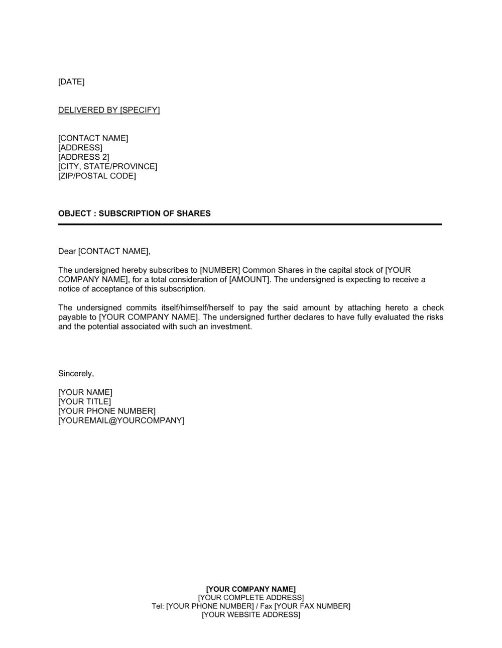 Sample redemption letter AUTHORIZATION LETTER