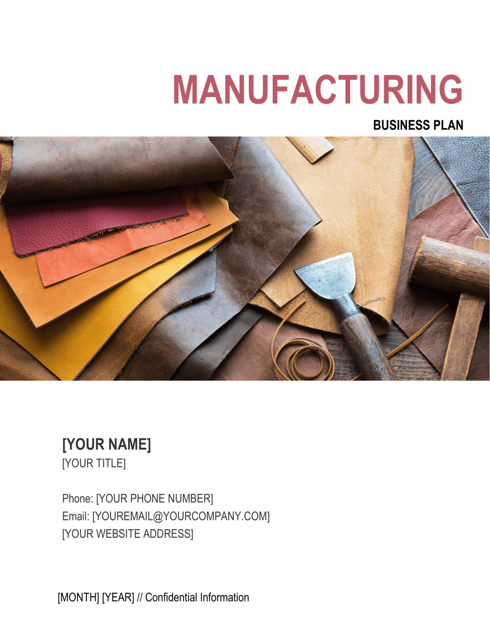 Business-in-a-Box's Manufacturing Business Plan 3 Template