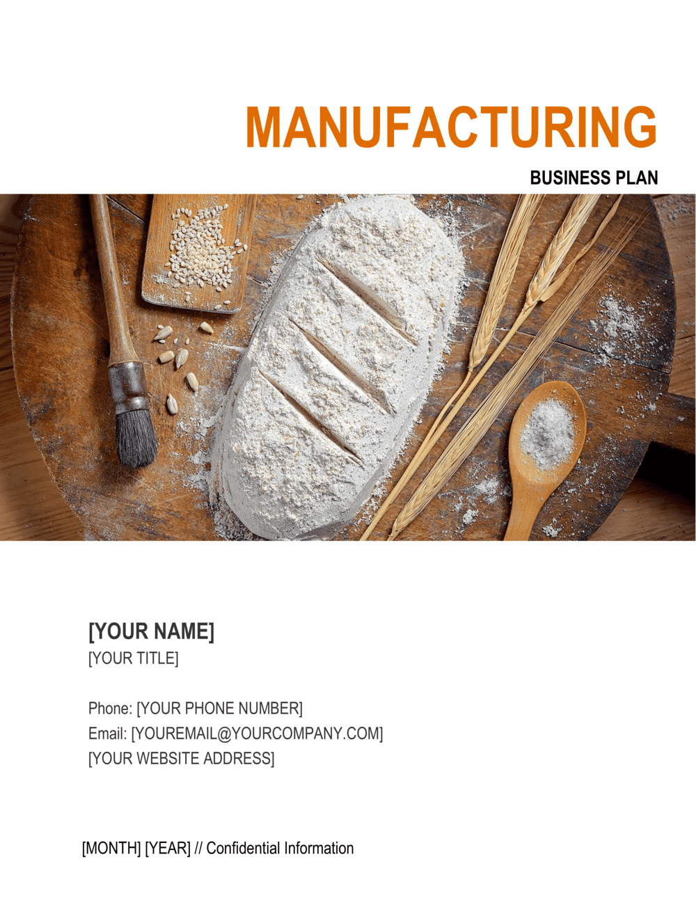 Business-in-a-Box's Manufacturing Business Plan 4 Template