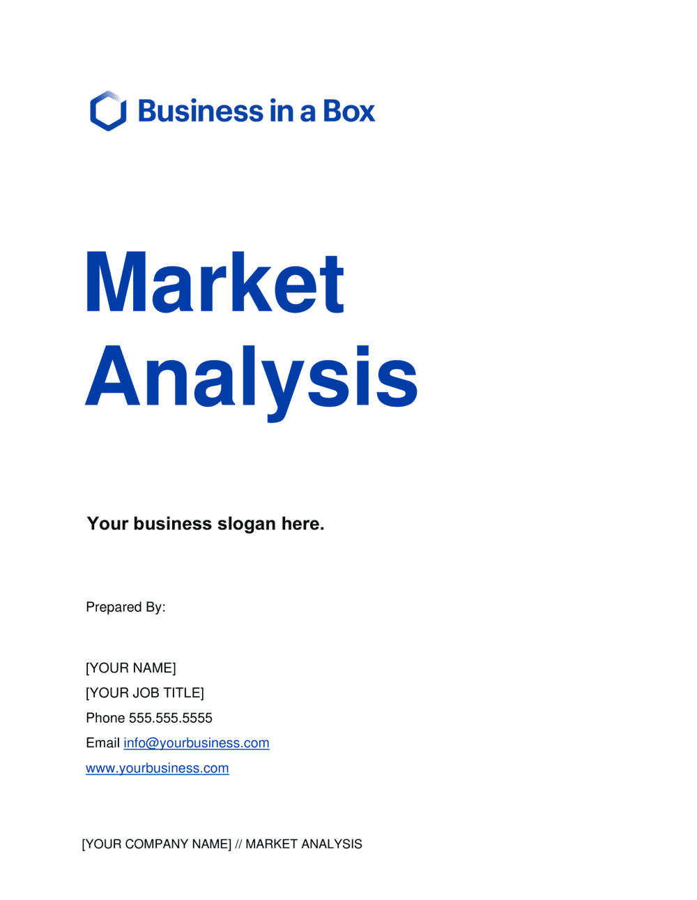 Business-in-a-Box's Market Analysis Template