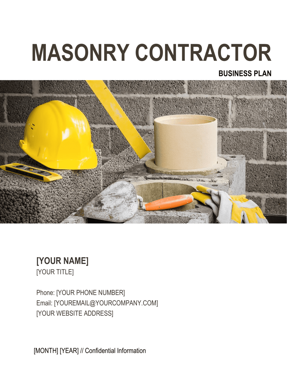 Business-in-a-Box's Masonry Contractor Business Plan Template