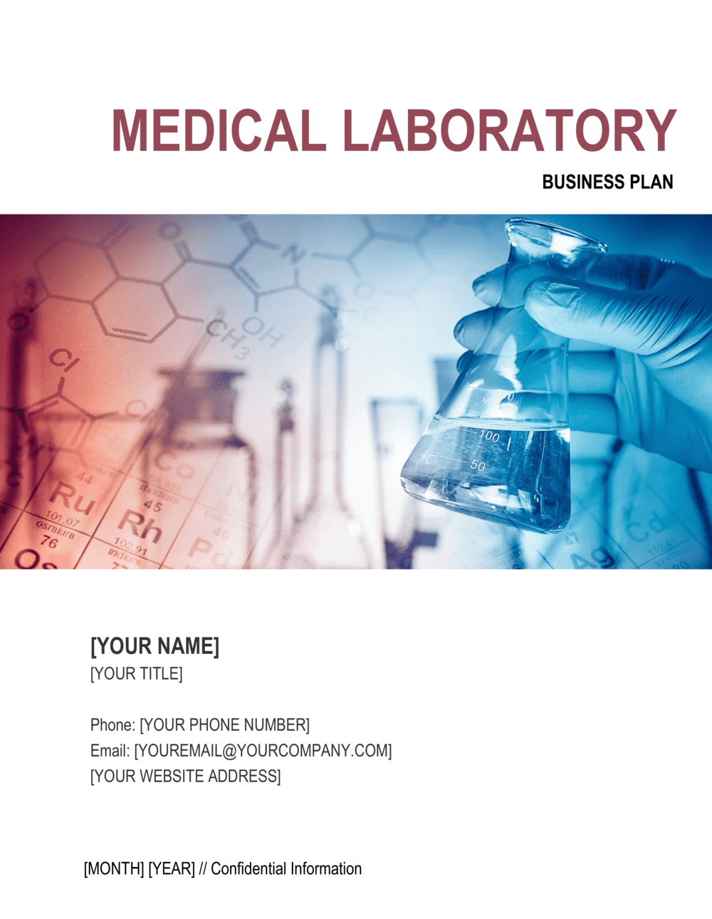 Business-in-a-Box's Medical Laboratory Business Plan Template