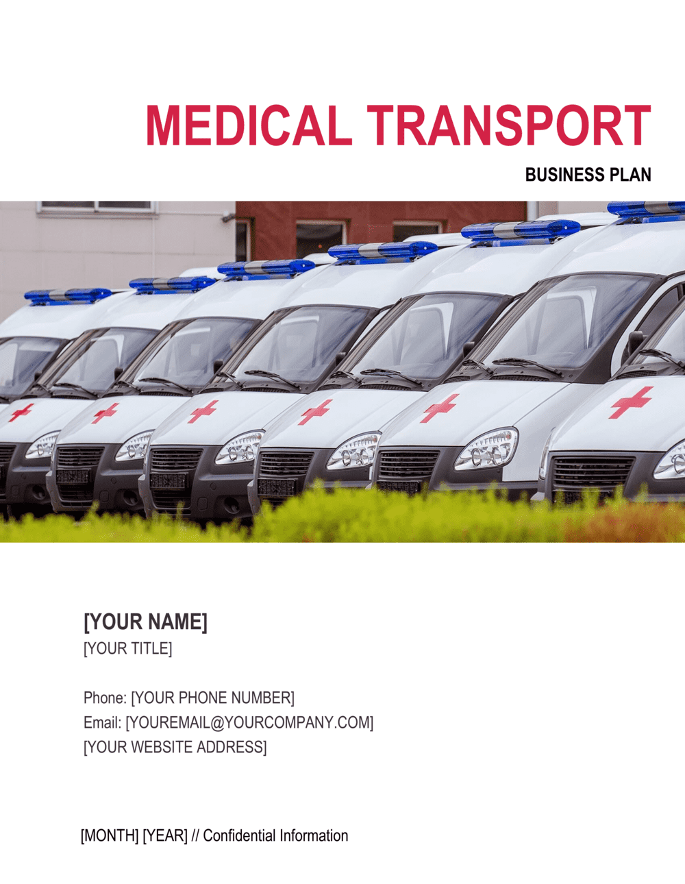 Business-in-a-Box's Medical Transport Business Plan Template