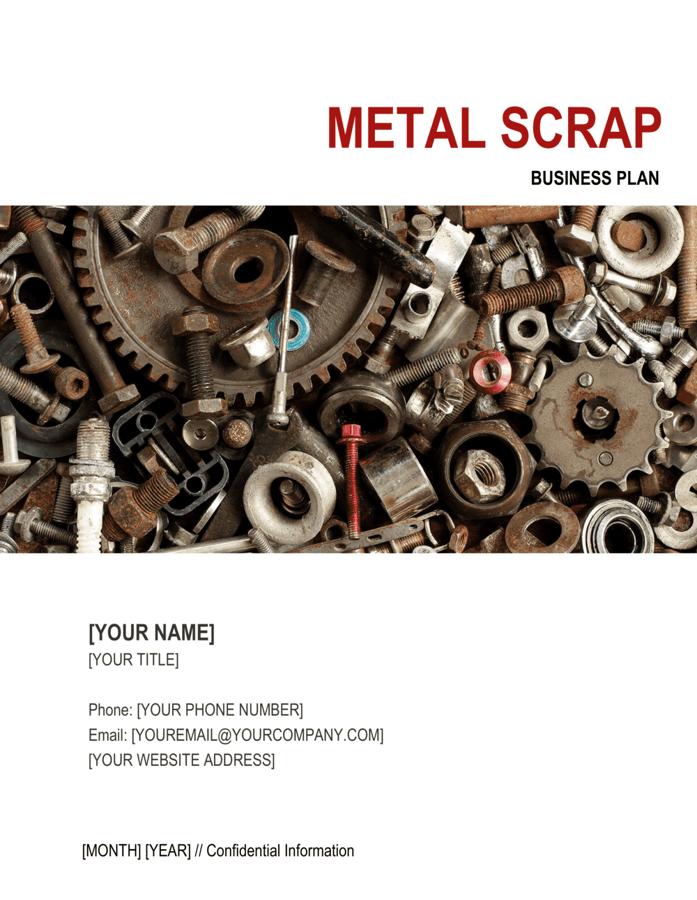 Business-in-a-Box's Metal Scrap Business Plan Template