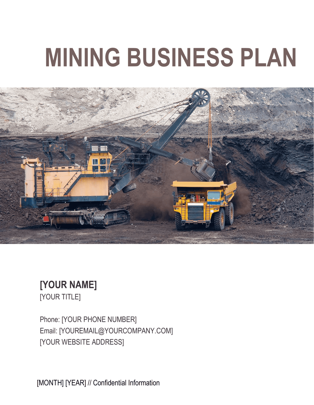 Business-in-a-Box's Mining Business Plan Template