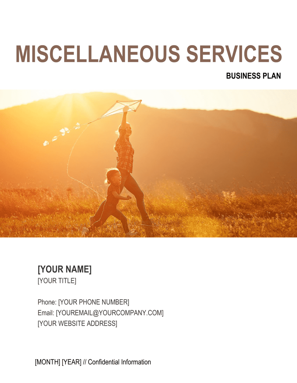 Business-in-a-Box's Miscellaneous Services Business Plan 2 Template
