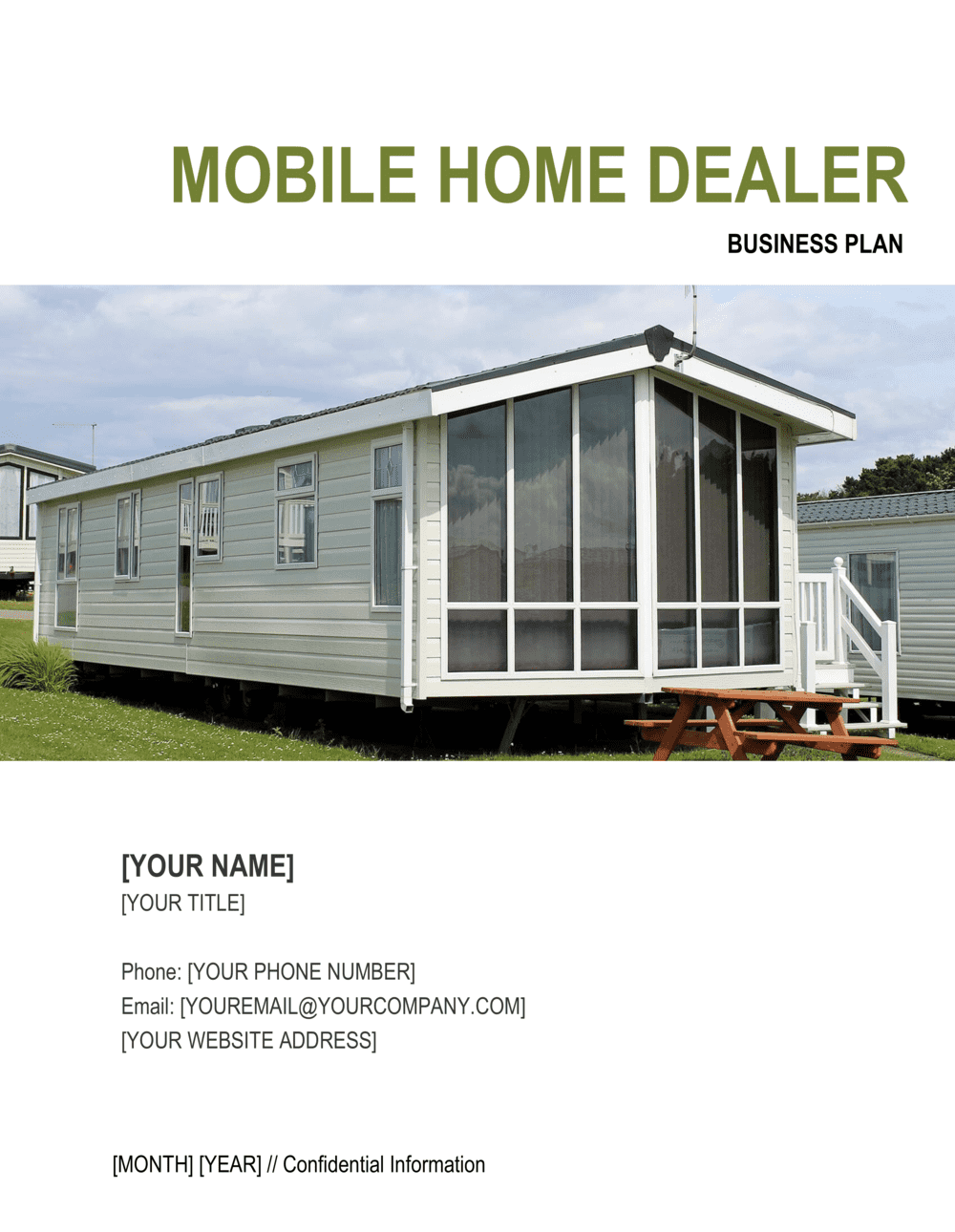 Business-in-a-Box's Mobile Home Dealer Business Plan Template