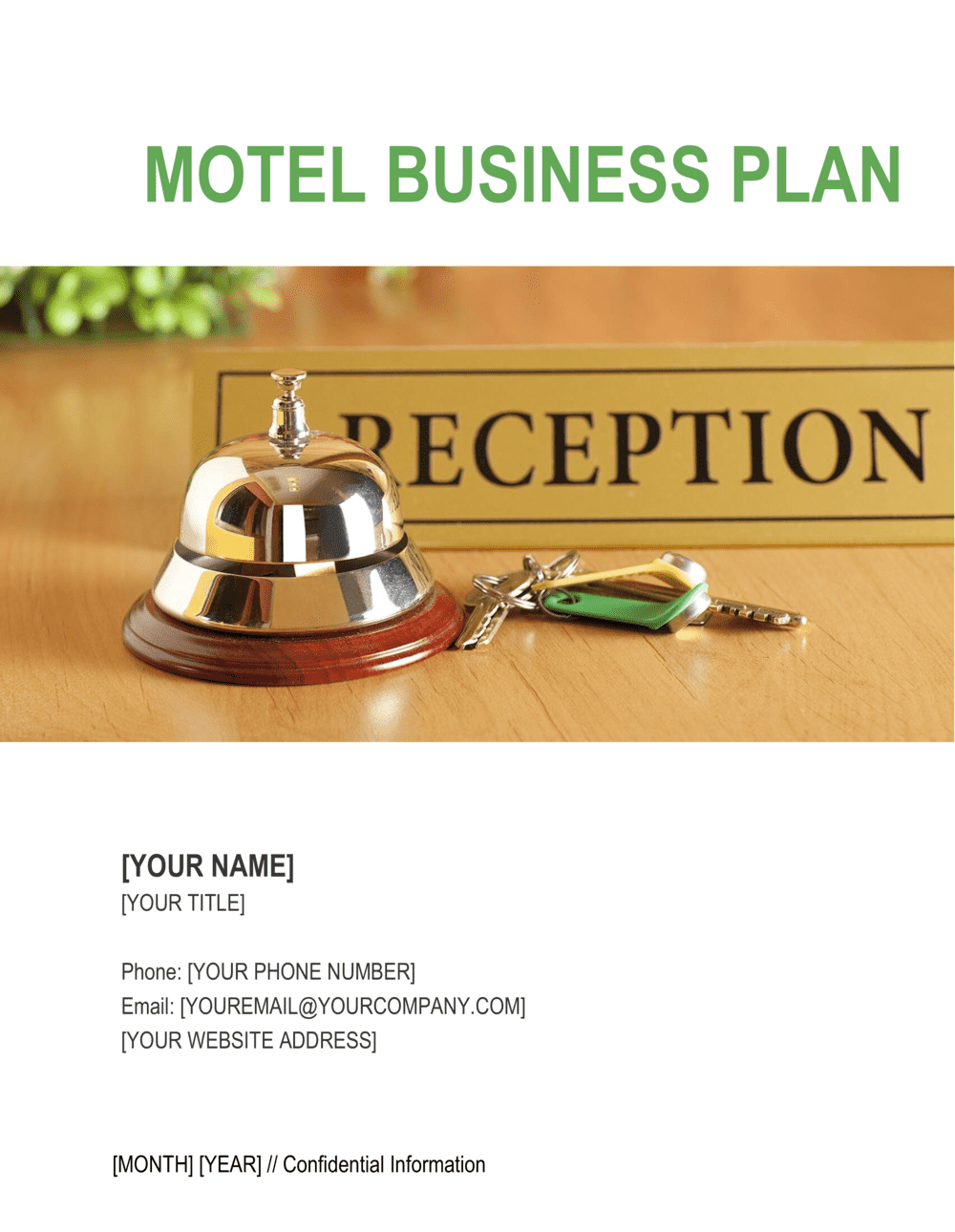 Business-in-a-Box's Motel Business Plan Template