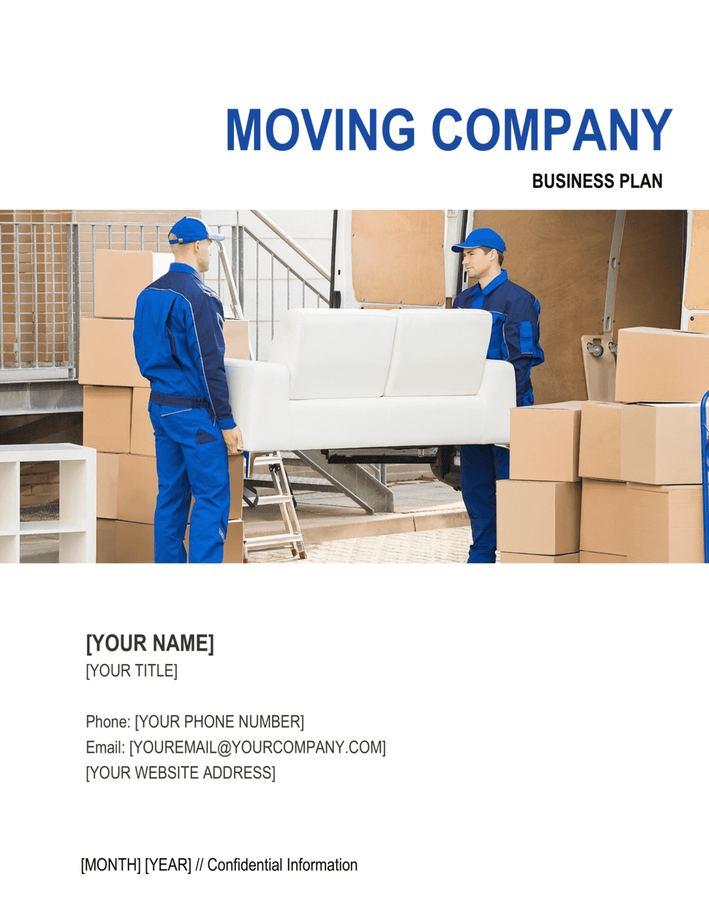Business-in-a-Box's Moving Company Business Plan Template