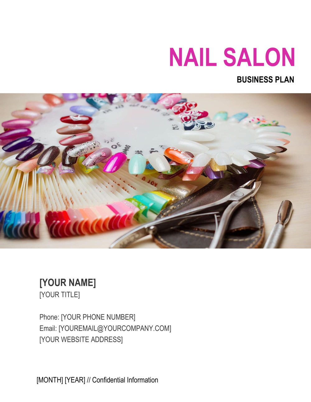 Business-in-a-Box's Nail Salon Business Plan Template