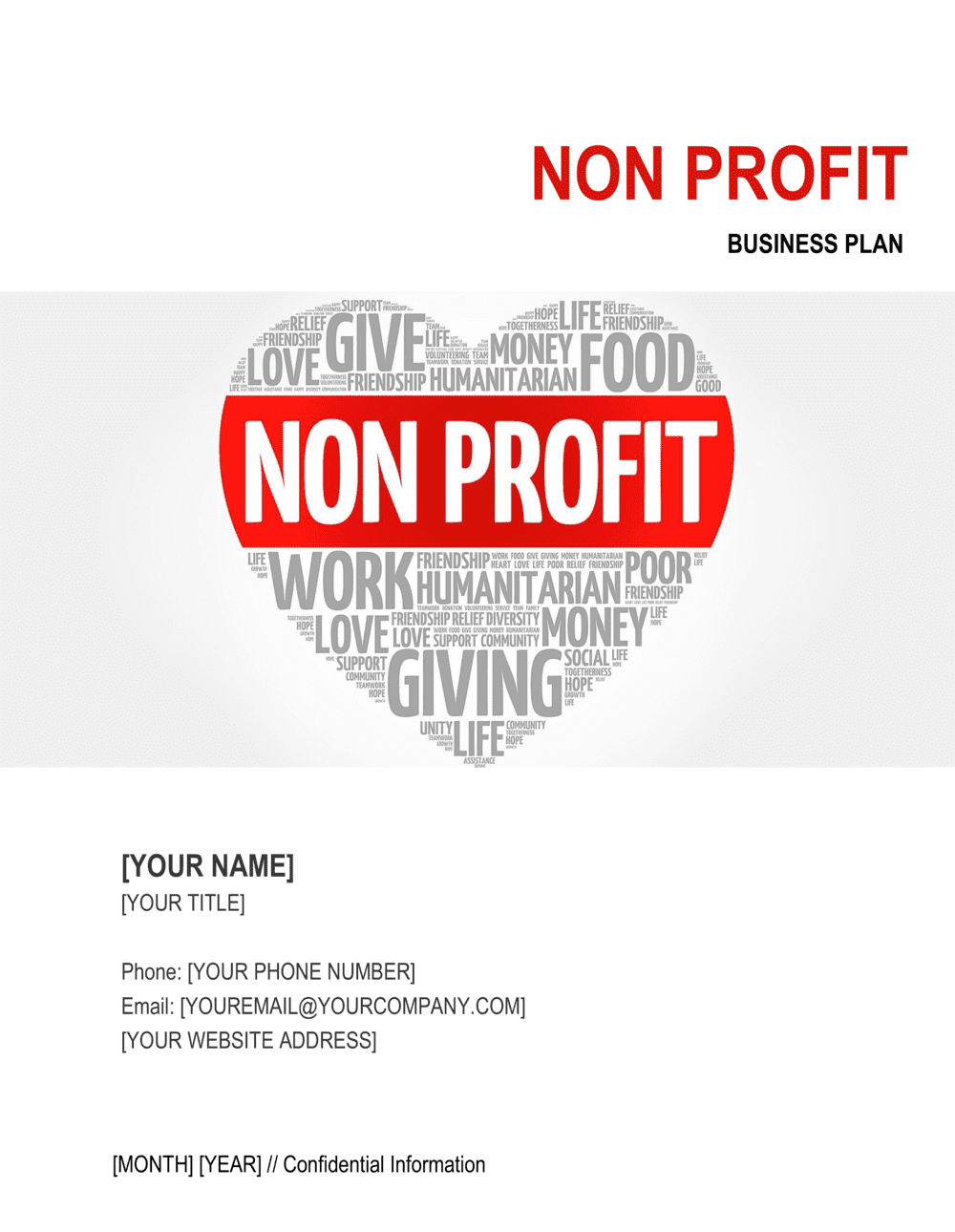 Business-in-a-Box's Non-profit Organization Business Plan 3 Template