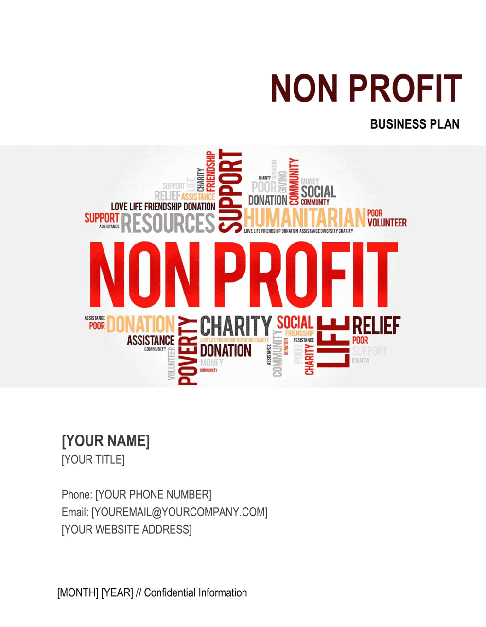 Business-in-a-Box's Non-profit Organization Business Plan 4 Template