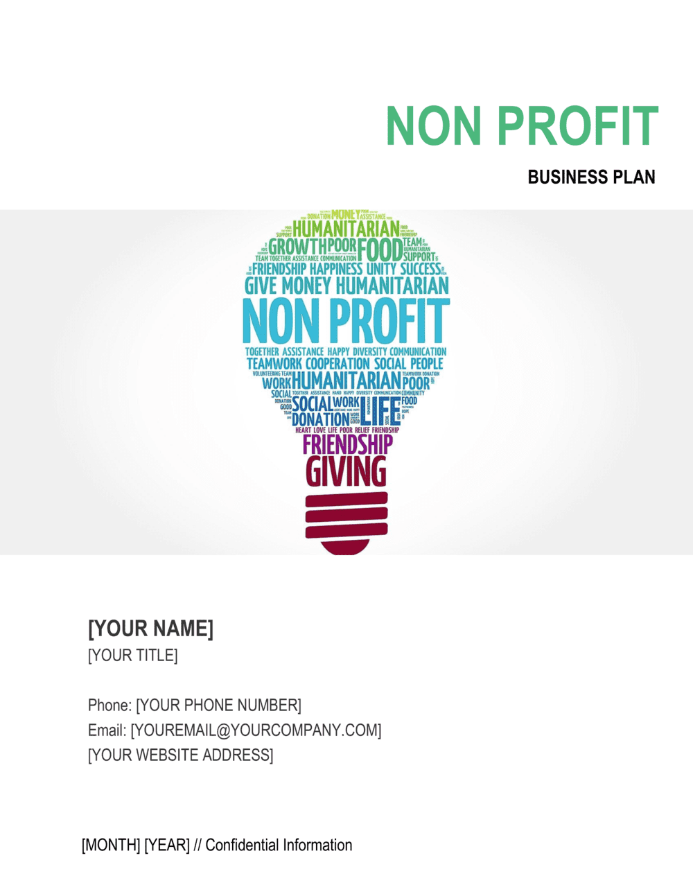 Business-in-a-Box's Non-profit Organization Business Plan 5 Template