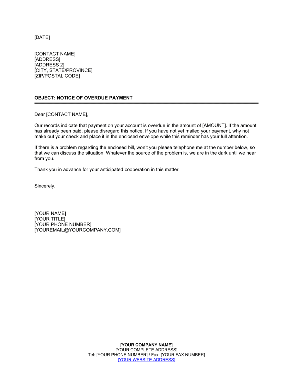 Letter For Past Due Invoices from templates.business-in-a-box.com