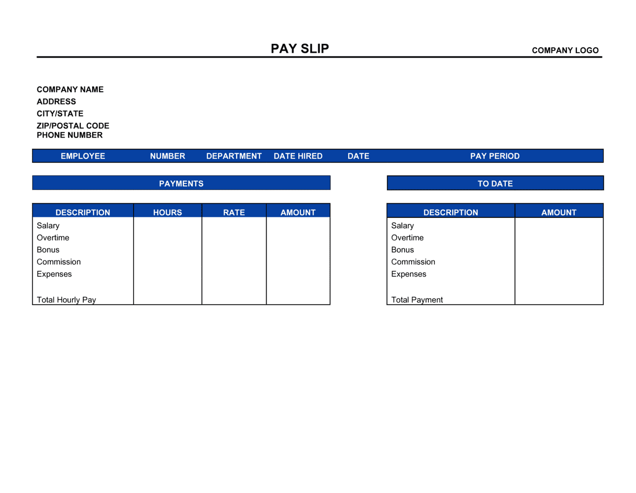 Business-in-a-Box's Payslip Template