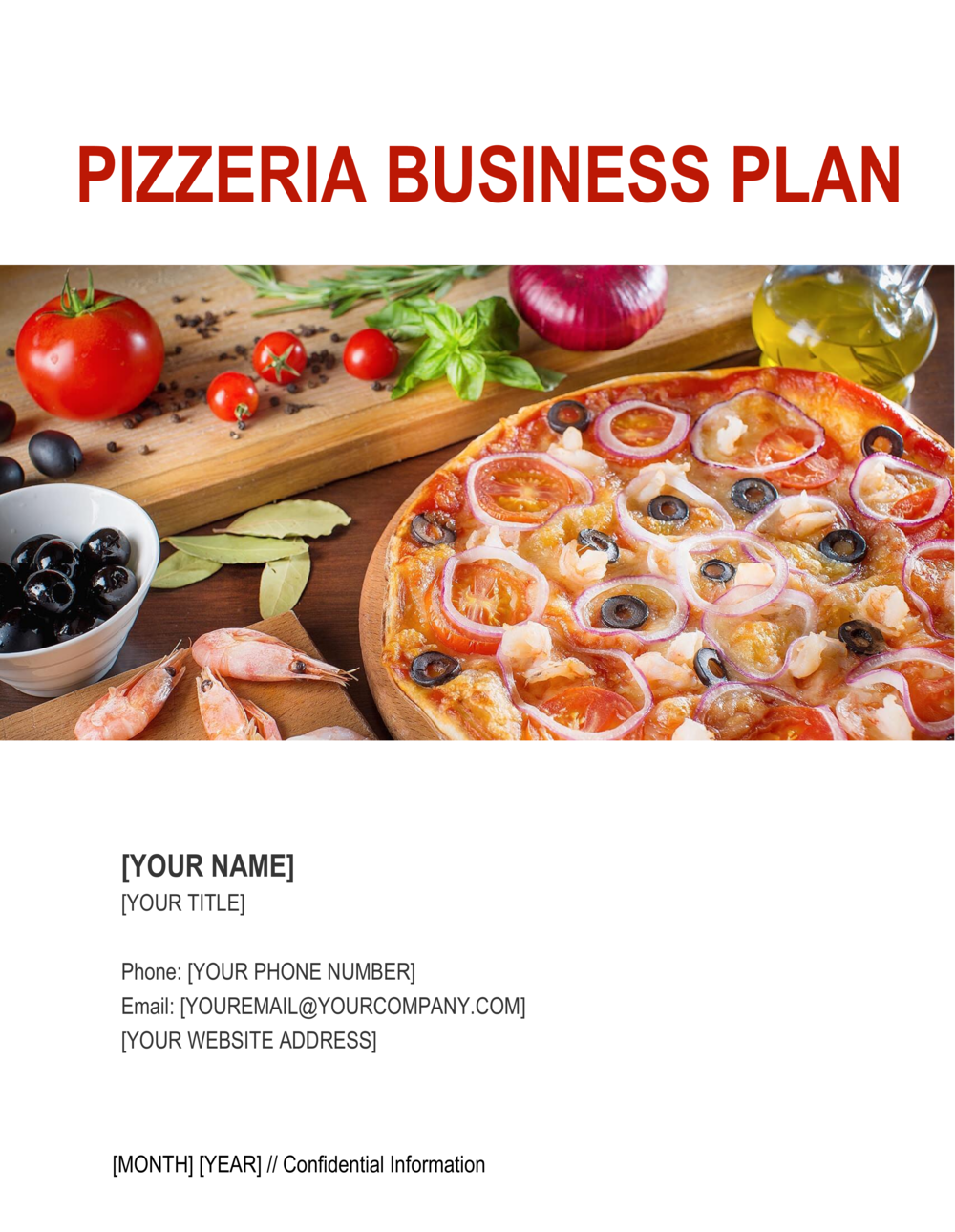 Business-in-a-Box's Pizzeria Business Plan Template