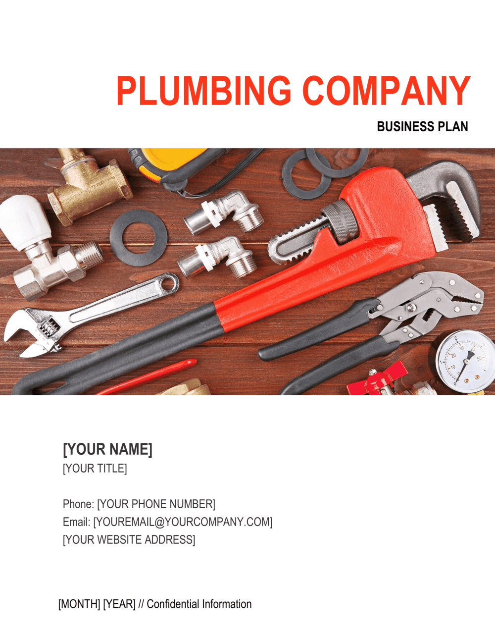 Business-in-a-Box's Plumbing Company Business Plan Template