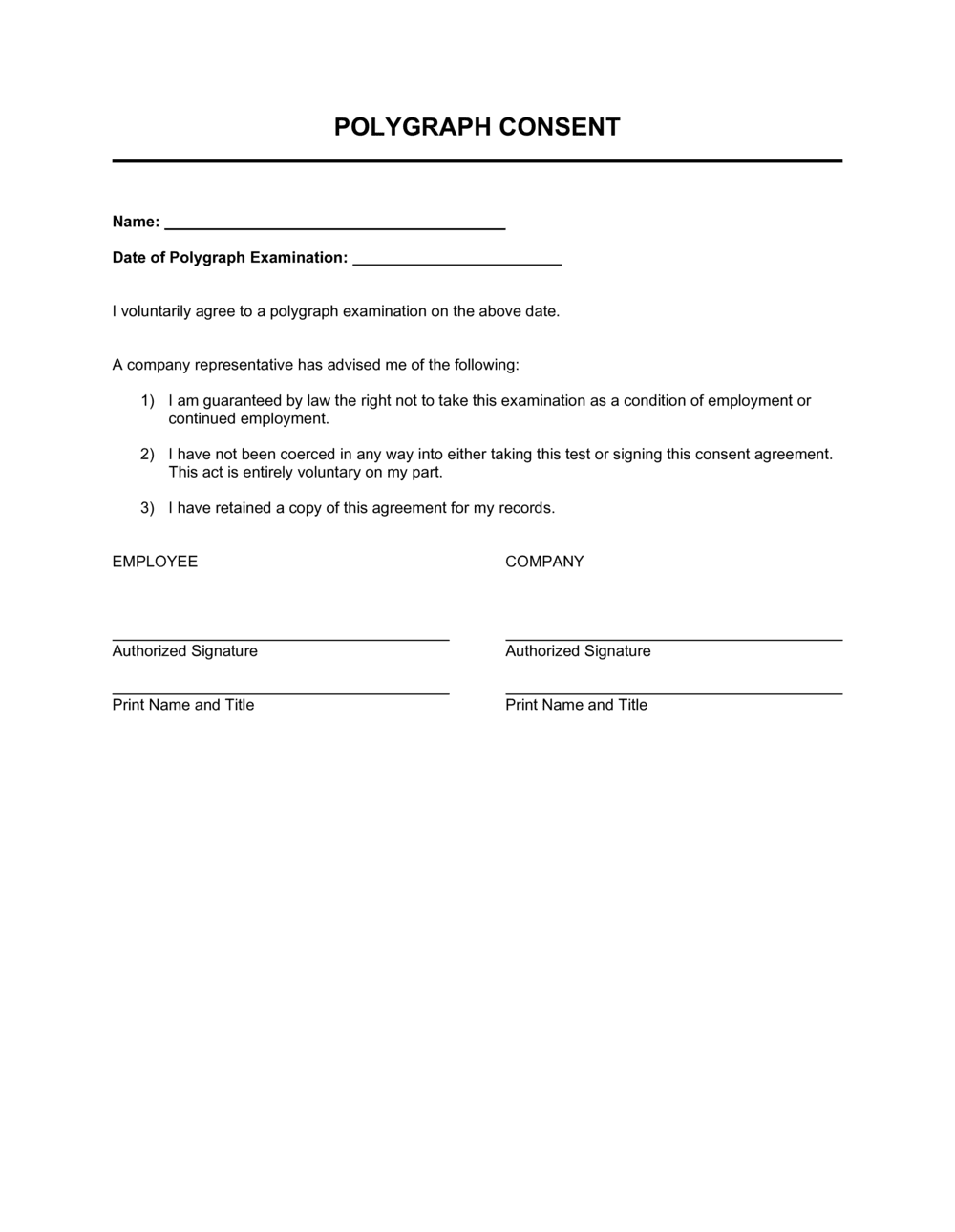Business-in-a-Box's Polygraph Consent Template