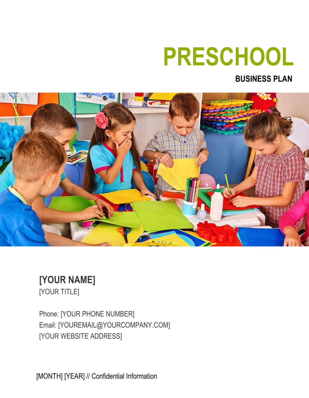 Business-in-a-Box's Preschool Business Plan Template