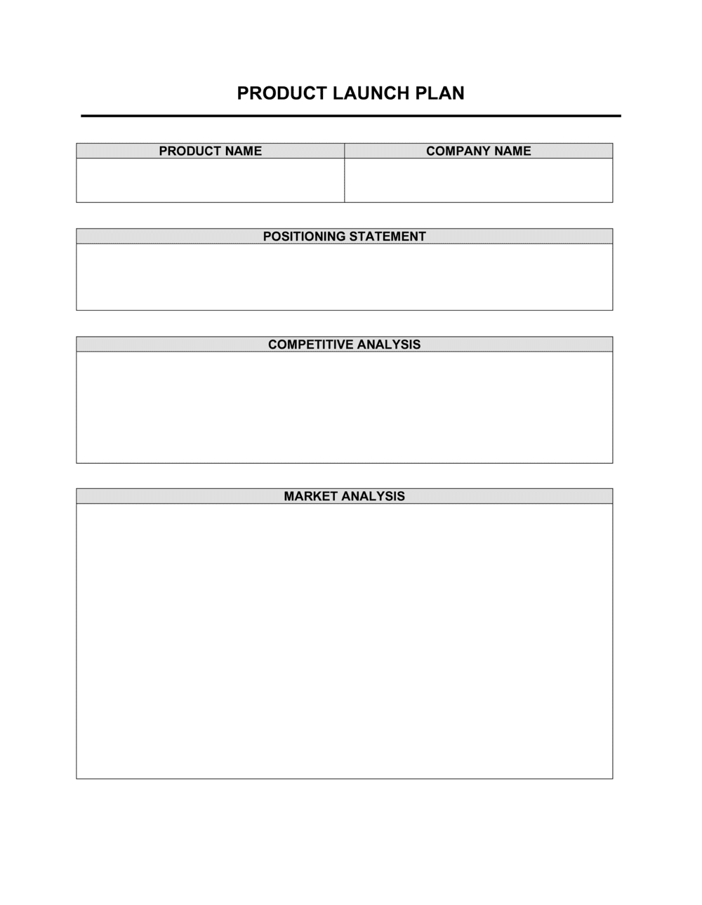Business-in-a-Box's Product Launch Plan Template