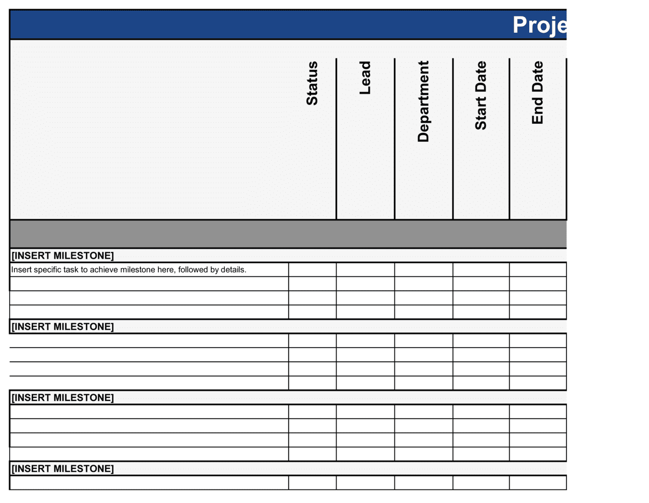 Business-in-a-Box's Project Management Template Template