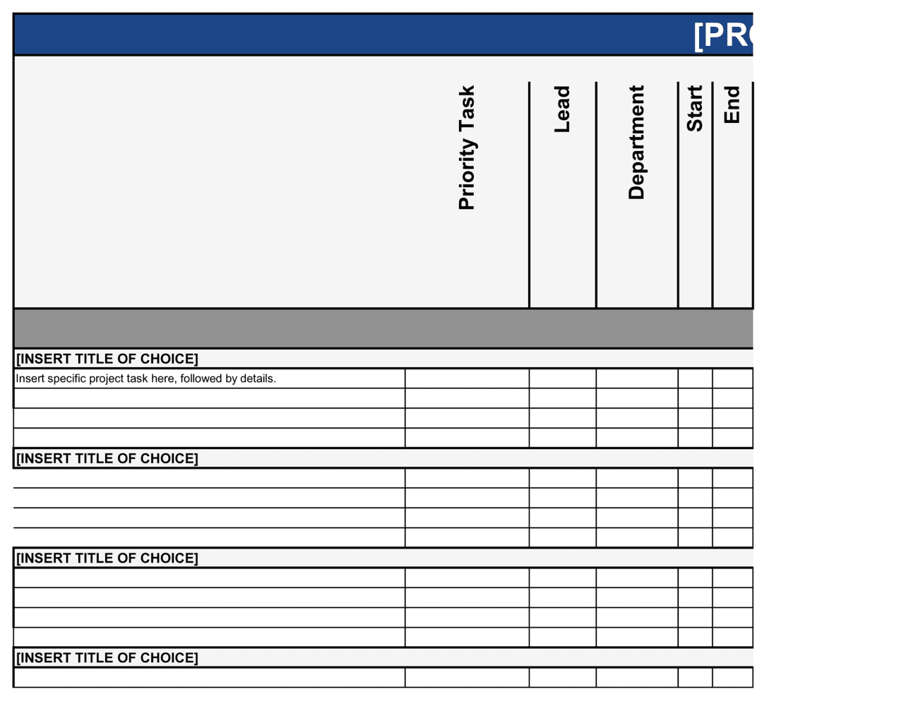 Business-in-a-Box's Project Plan Template