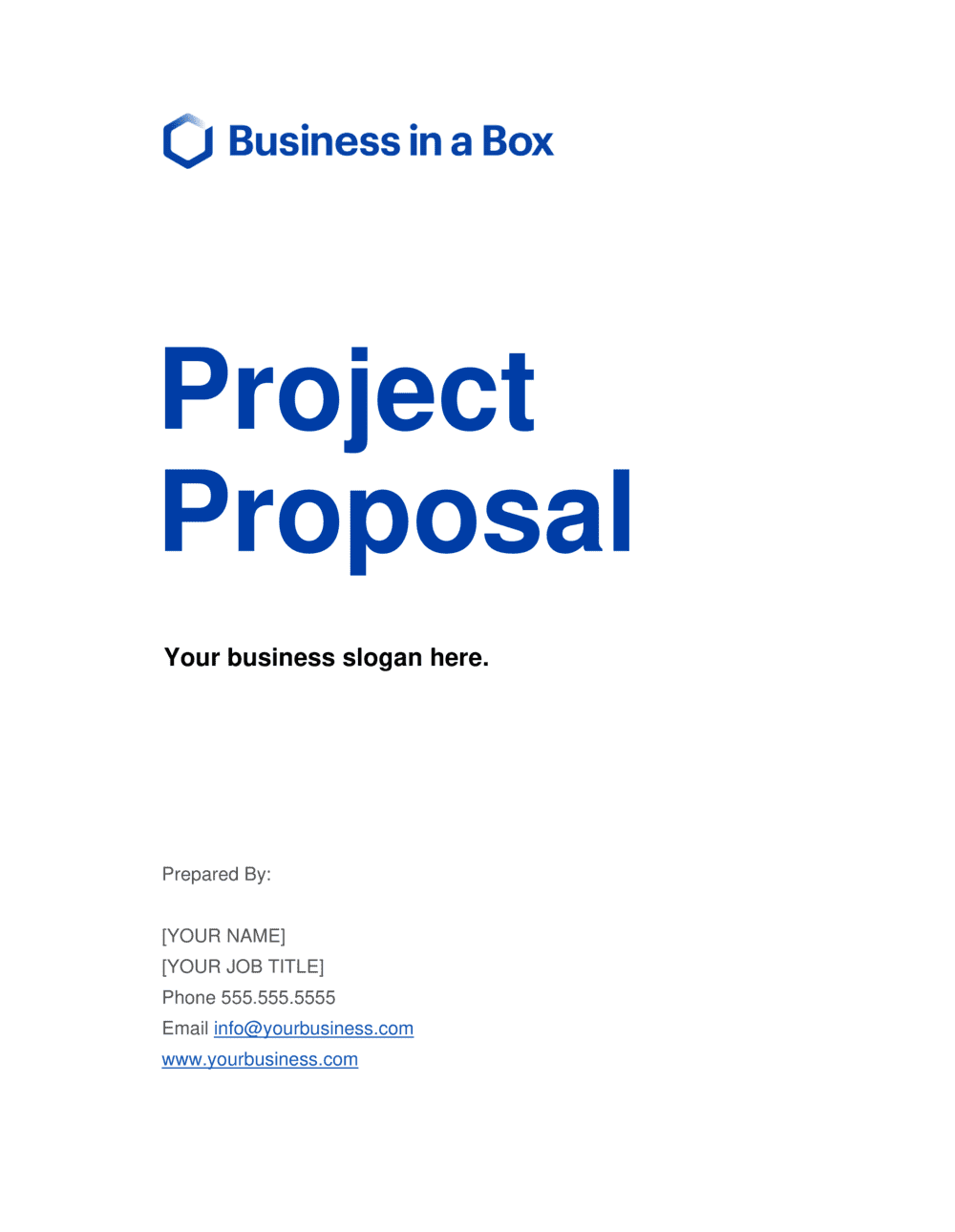 Business-in-a-Box's Project Proposal Template