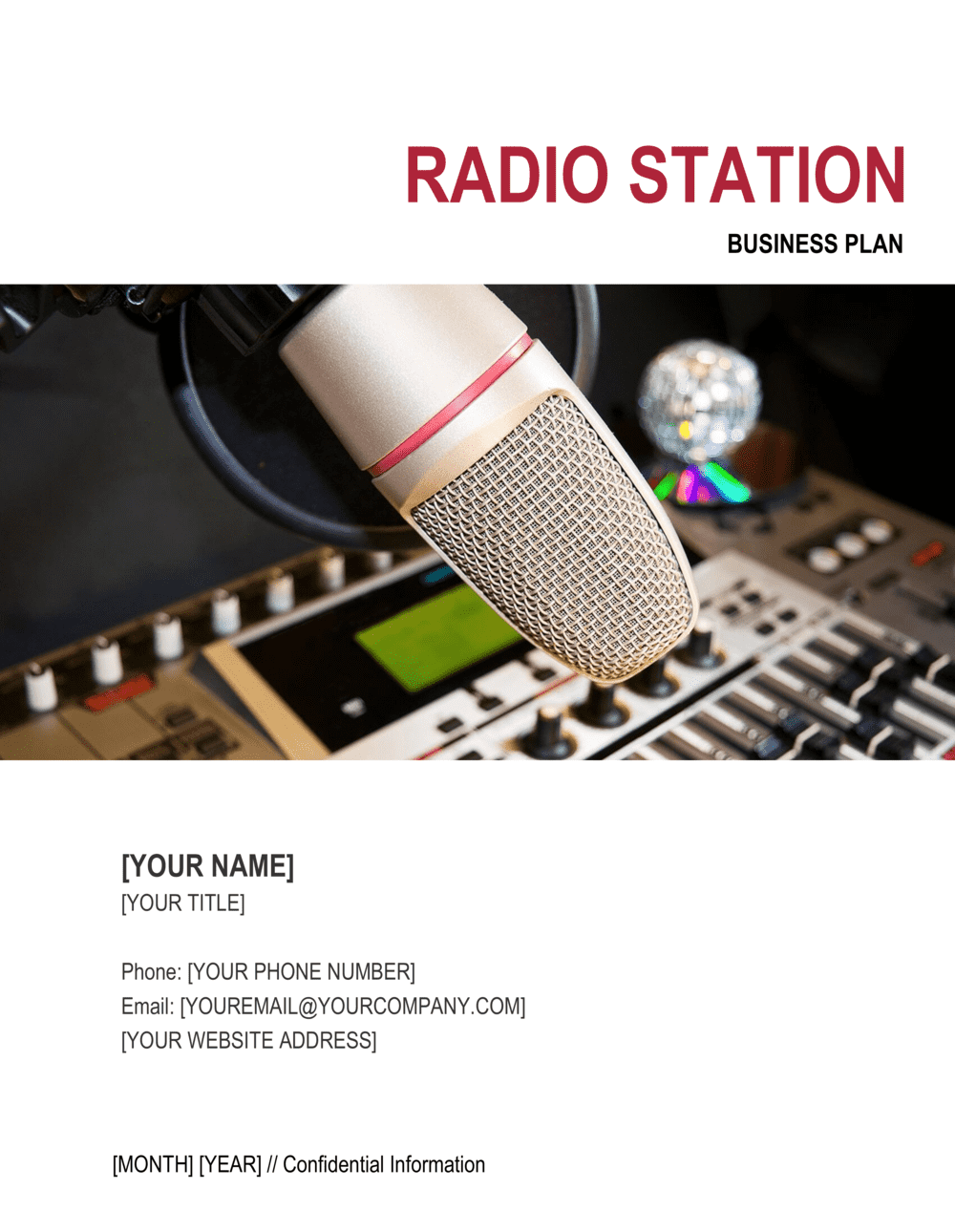 Business-in-a-Box's Radio Station Business Plan Template