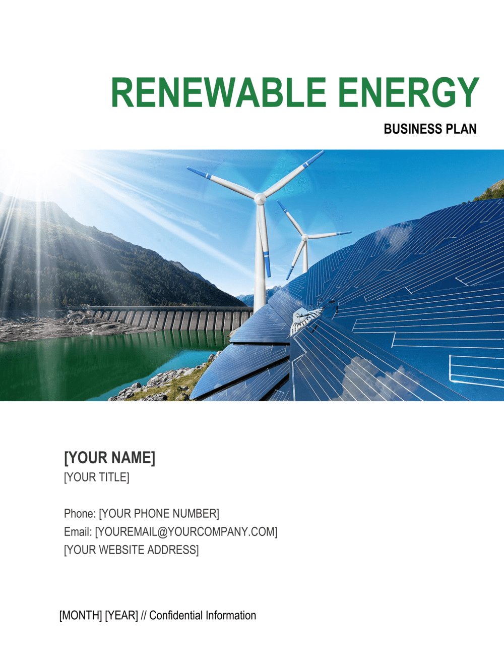Business-in-a-Box's Renewable Energy Business Plan Template
